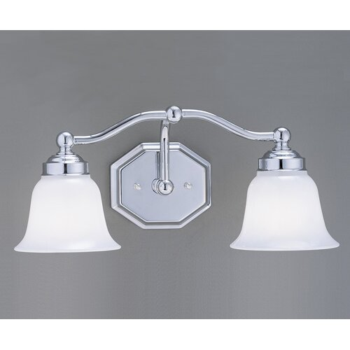 Norwell Lighting Trevi Hexagon Shape 2 Light Bath Vanity Light
