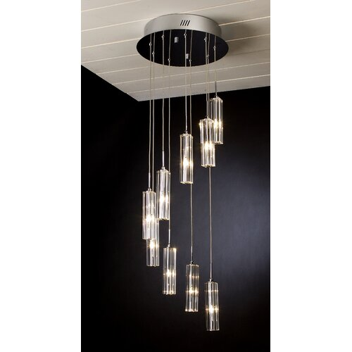 Spirale 9 Light Crafted Chandelier