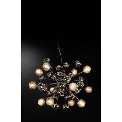 trend lighting corp starburst 12 light chandelier. Black Bedroom Furniture Sets. Home Design Ideas