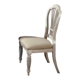 Wilshire Side Chair in Antiqued White