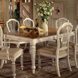 Wilshire Dining Table in Antiqued White