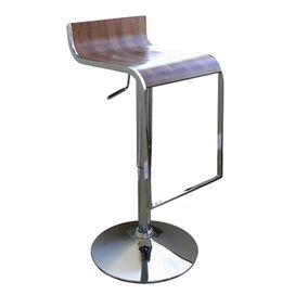 Dromio Swivel Barstool in Walnut