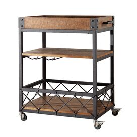 Eastfield Kitchen Cart With Wood Top