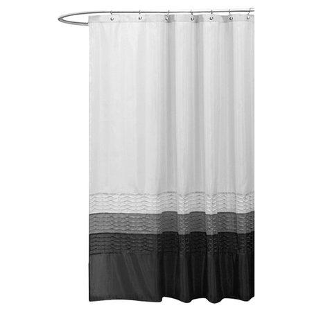 Mia Shower Curtain in White & Black
