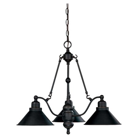 Bridgeview 3 Light Chandelier in Mission Dust Bronze