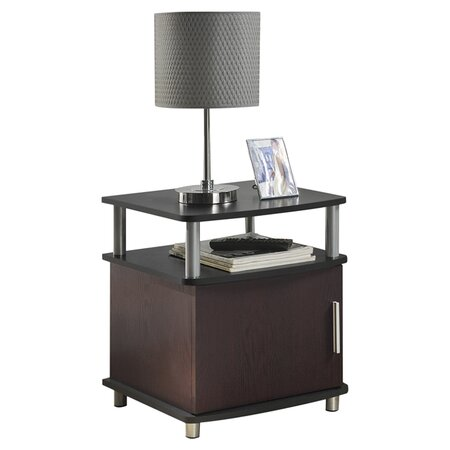 Carson End Table in Cherry & Black