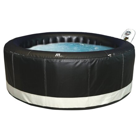 4 Person Inflatable Bubble Spa in Black