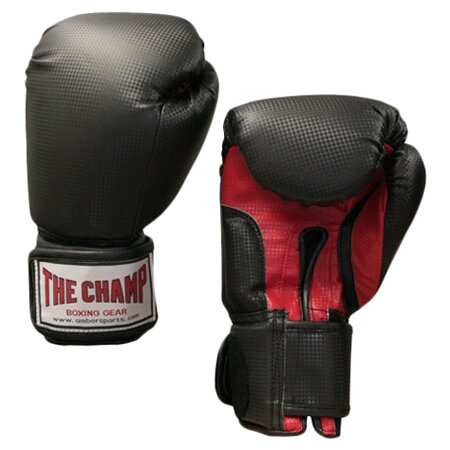 The Champ Velcro Boxing Gloves in Black (Set of 2)
