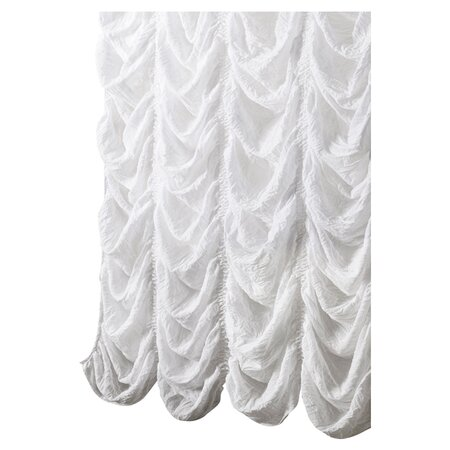 Madelynn Shower Curtain in White