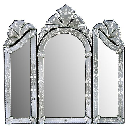 Monet 3 Piece Wall Mirror Set in Silver