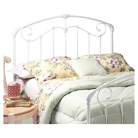 Maddie Metal Poster Headboard in White