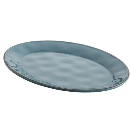"""Cucina 14"""" Oval Platter in Agave Blue"""