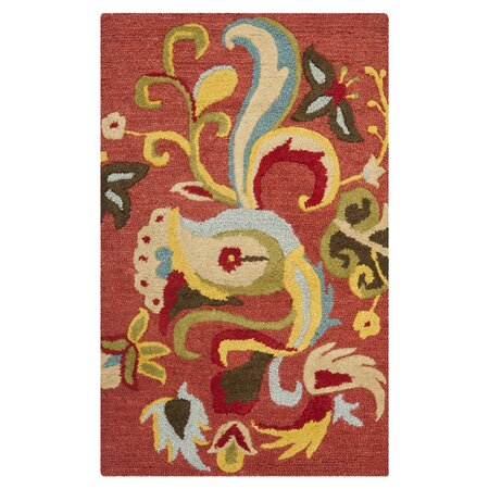 Blossom Floral Rust Rug