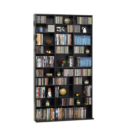 Arlington Multimedia Storage Rack in Dark Brown