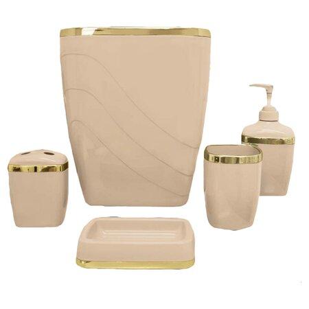 5 Piece Bath Accessory Set in Linen