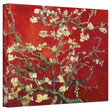 Red Almond Blossom Canvas Art by Vincent van Gogh