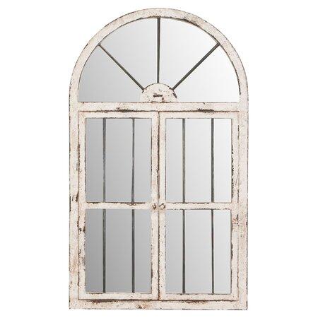 Window Wall Mirror in Antique White