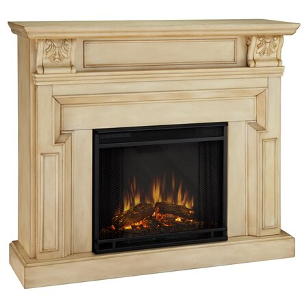 Kristine Electric Fireplace With Adjustable Temperature Adjustable Flame In Antique