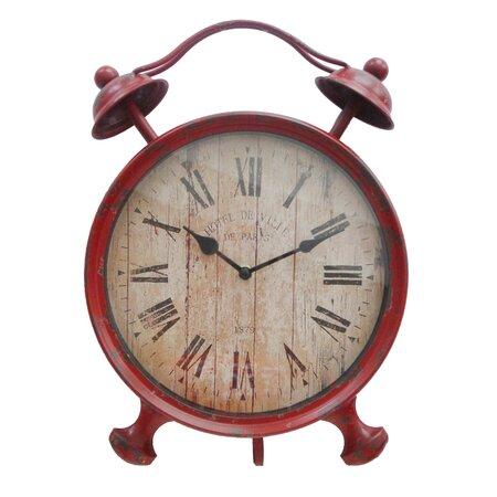 Boa Clock in Red