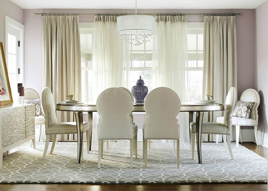 Understated glam dining room photos by kbw associates for Glam dining room ideas