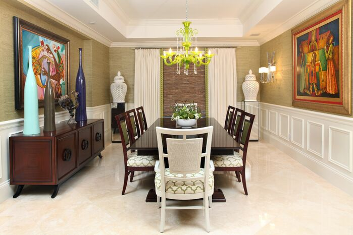 Eclectic Dining Room photo by B. Pila Design Studio
