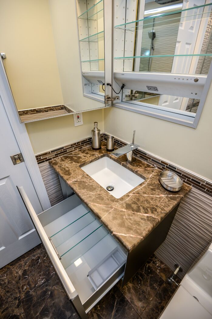Modern Bathroom photo by Robin Hiken Interiors