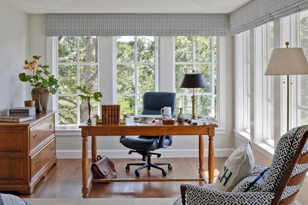Coastal Home Office photo by SLC Interiors