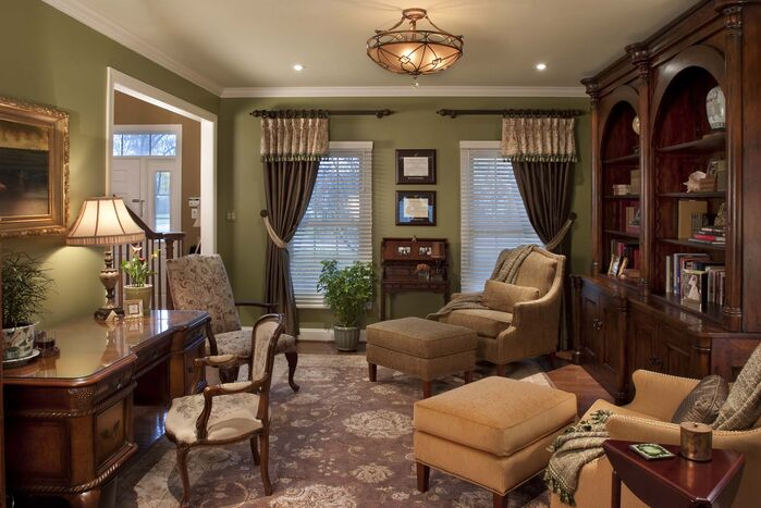 Traditional Home Office photo by Robinson Interiors