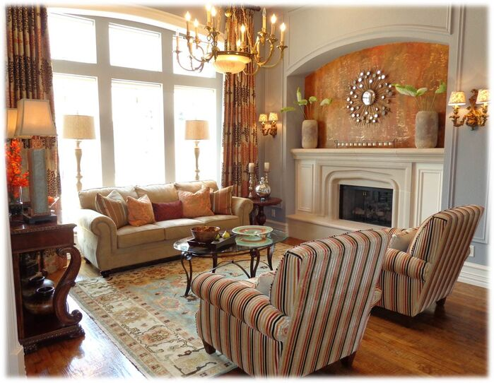Traditional Living Room photo by DecRenew Interiors