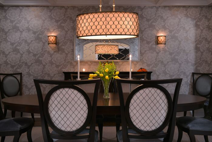 Glam Dining Room photo by Ellen Baker Interiors