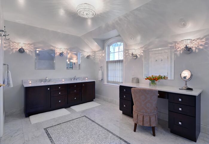 Glam Bathroom photo by Ellen Baker Interiors