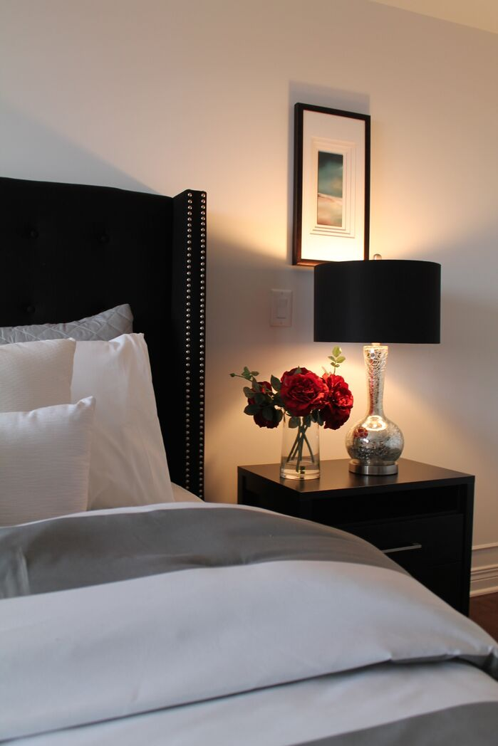 Contemporary Bedroom photo by Capital Home Staging  Design