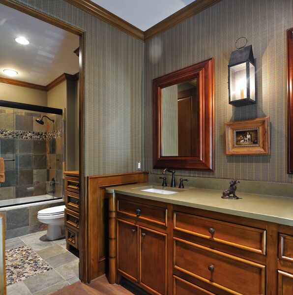 Traditional Bathroom photo by Roseanette Interior Designs