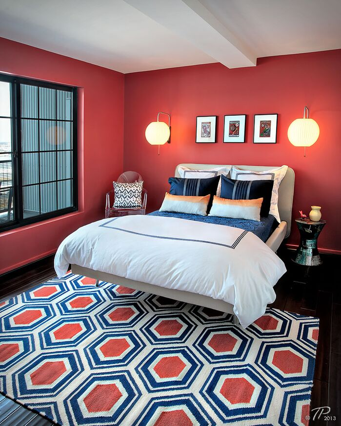 Eclectic Bedroom photo by Lauren M. Levine Interiors