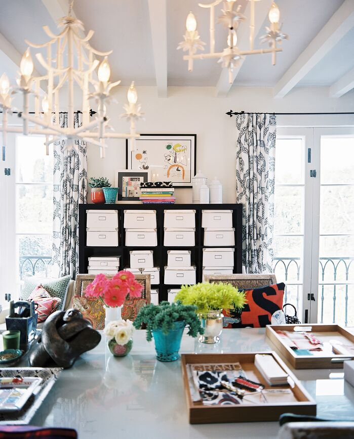 Eclectic Home Office photo by Burnham Design