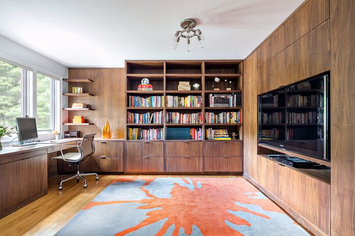 Contemporary Home Office photo by Clean Design Partners