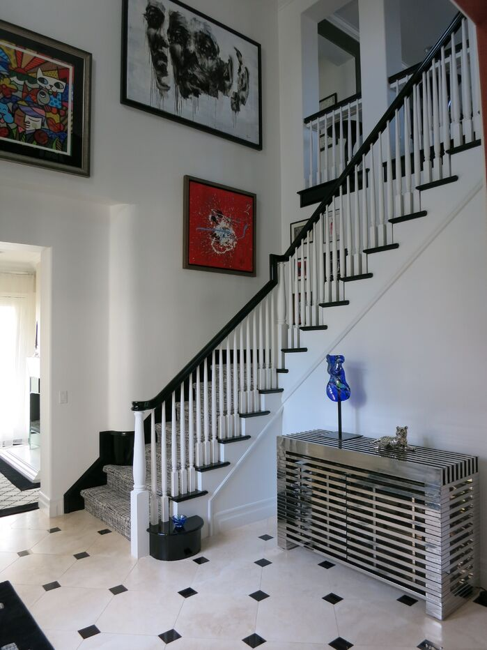 Contemporary Entryway and Hallway photo by Darling Interiors