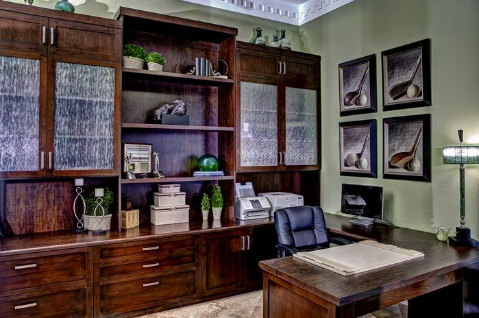 Traditional Home Office photo by Room Resolutions