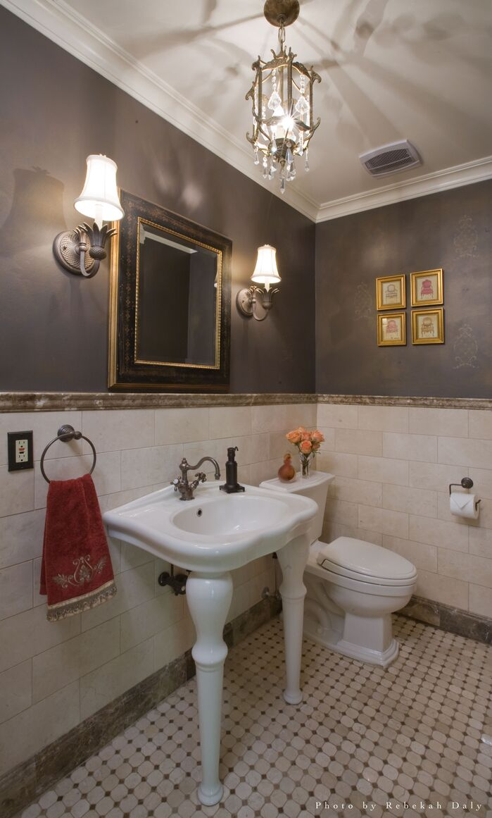 Modern Bathroom photo by Paula Caponetti Designs LLC