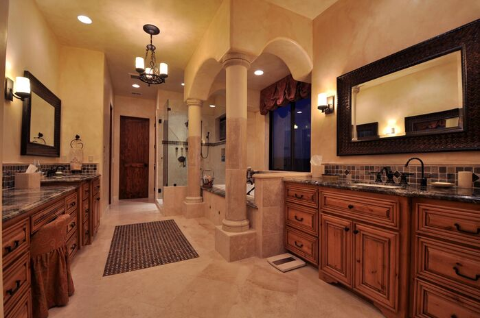Traditional Bathroom photo by Deborah Costa Design