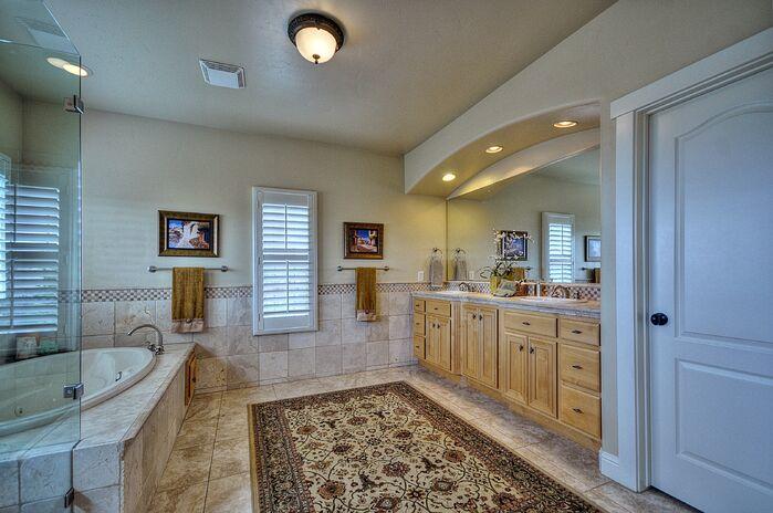 Traditional Bathroom photo by Deborah Costa Design