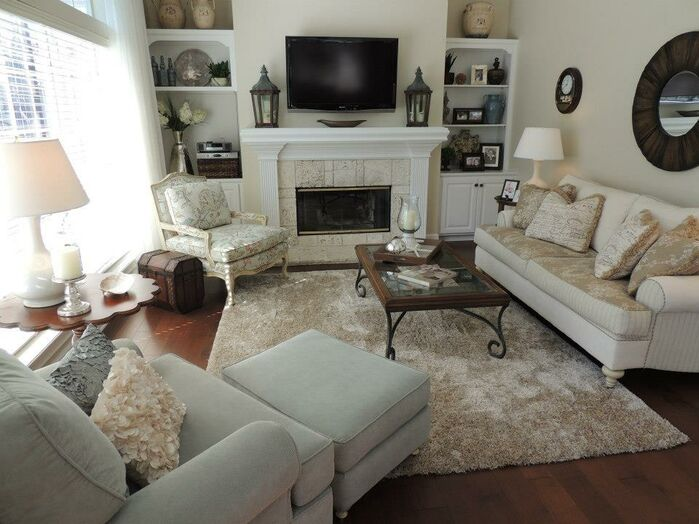 Cottage/Country Living Room photo by Housedressings Interiors LLC.