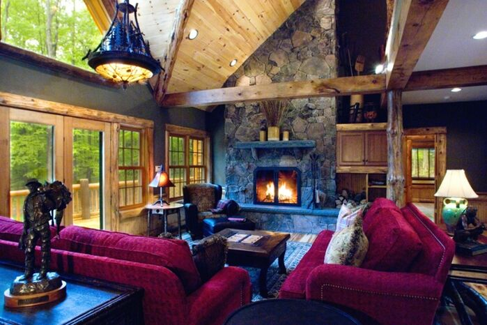 Rustic Living Room photo by LA Design Portfolio
