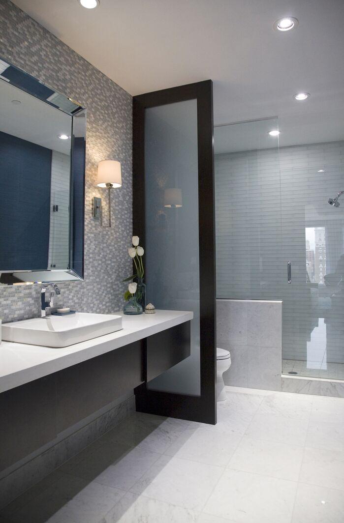Modern Bathroom photo by Threshold Goods & Design, LLC.