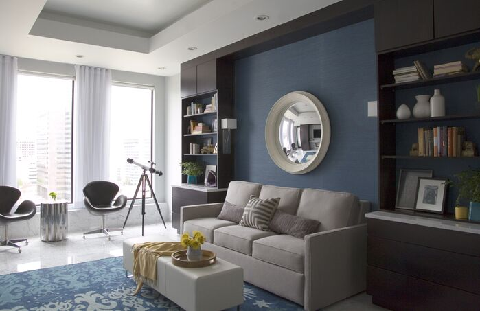 Contemporary Living Room photo by Threshold Goods & Design, LLC.