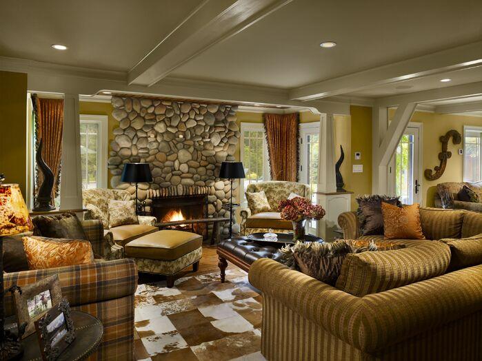 Rustic Living Room photo by Joseph A Berkowitz Interiors