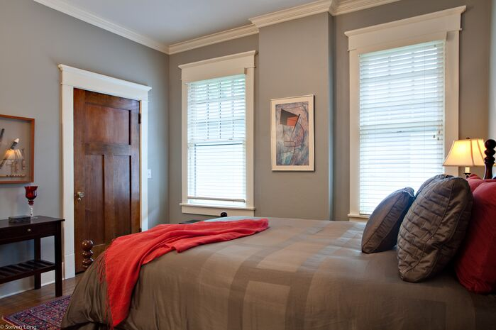 Contemporary Bedroom photo by Connie Long Interiors