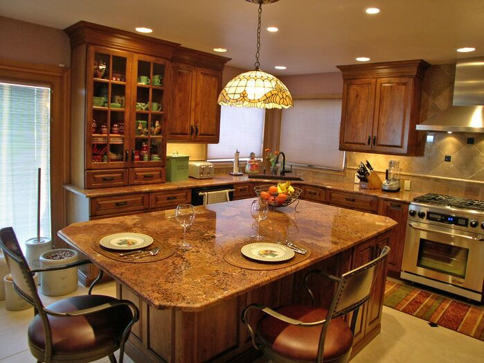 Cottage/Country Kitchen photo by RJL DESIGNS-LLC