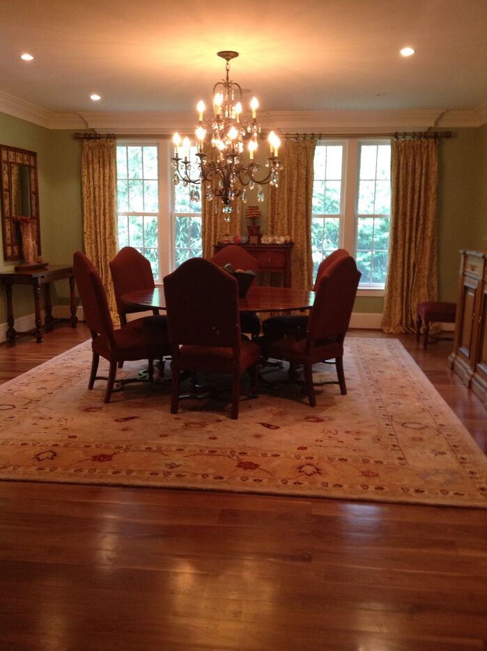 Traditional Dining Room photo by Metamorphosis interiors