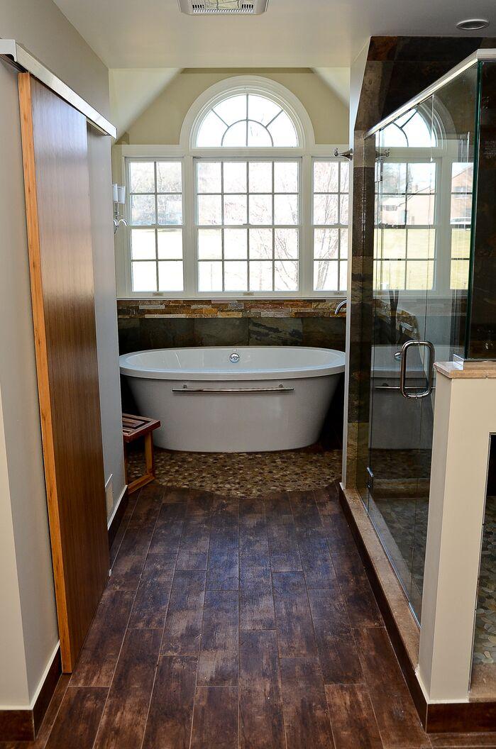 Rustic Bathroom photo by Robin Hiken Interiors